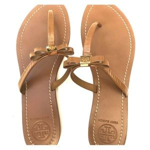 Tory Burch brown sandals size 10.  Worn once!